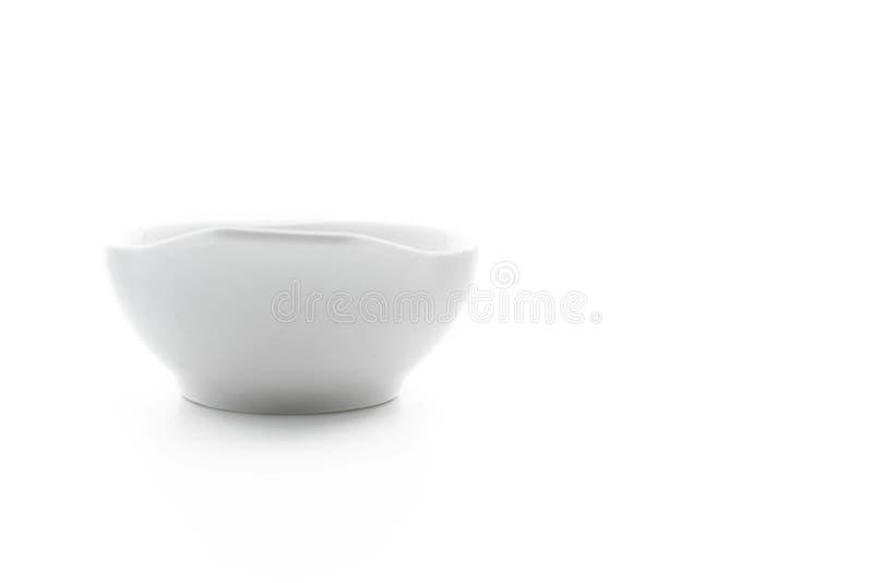 Tazón de fuente de cerámica blanco fotos de archivo libres de regalías