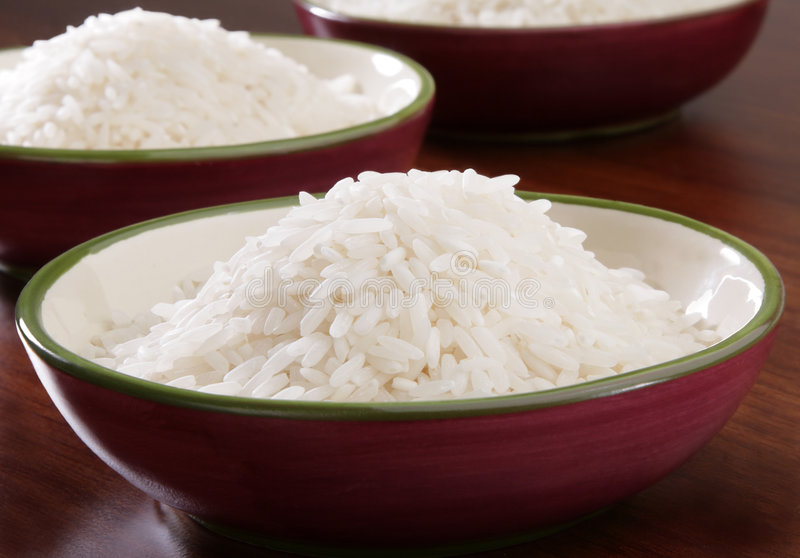 Tazón de fuente de arroz fotografía de archivo