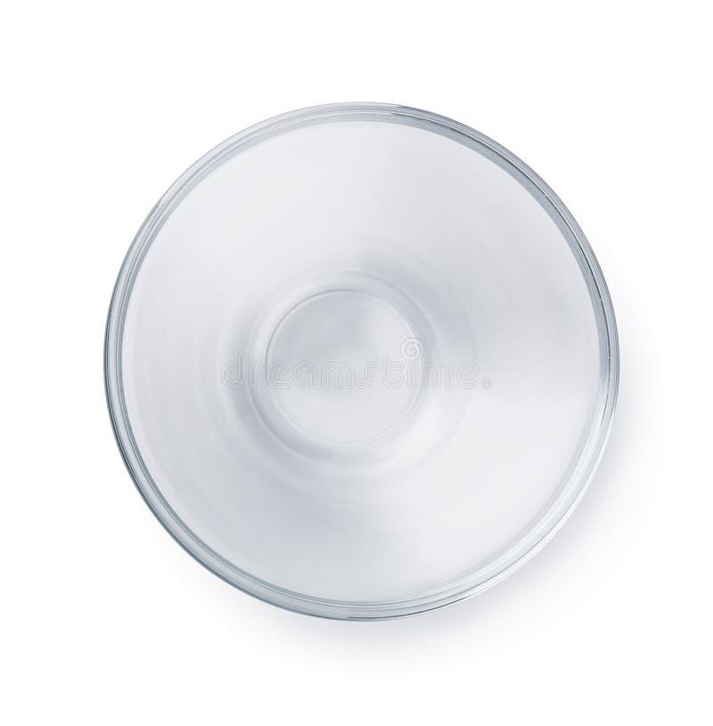 Tazón de fuente de cristal vacío fotos de archivo