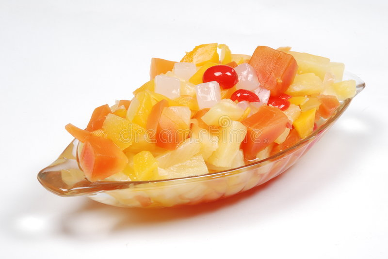 Tazón de fuente de frutas de la mezcla imagen de archivo libre de regalías