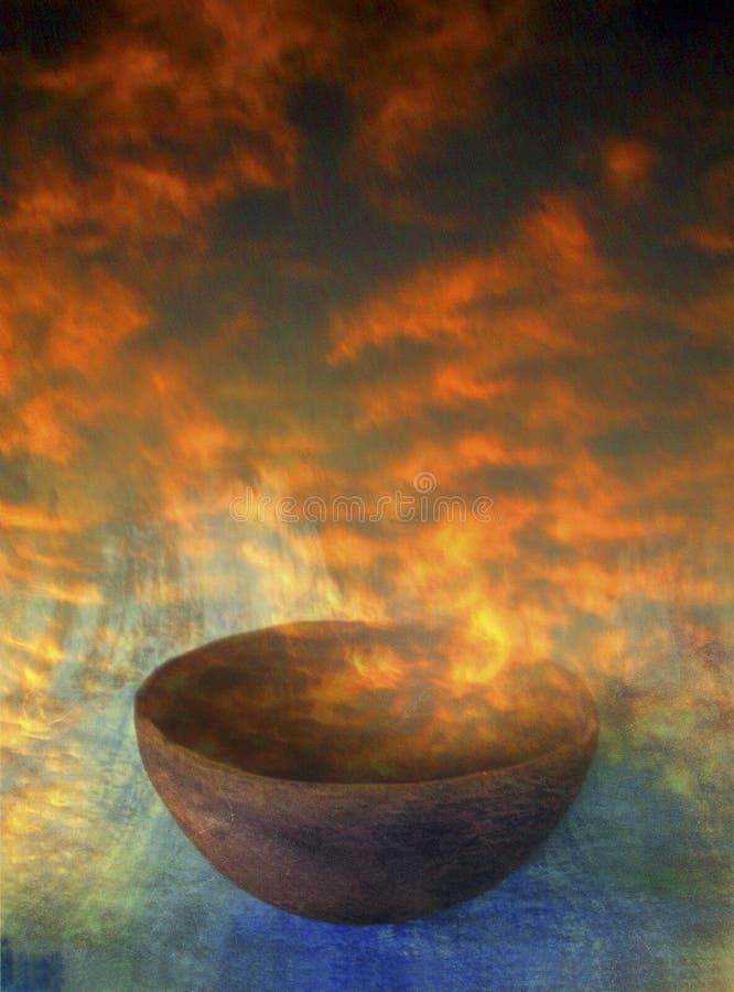 Tazón de fuente de la salida del sol stock de ilustración
