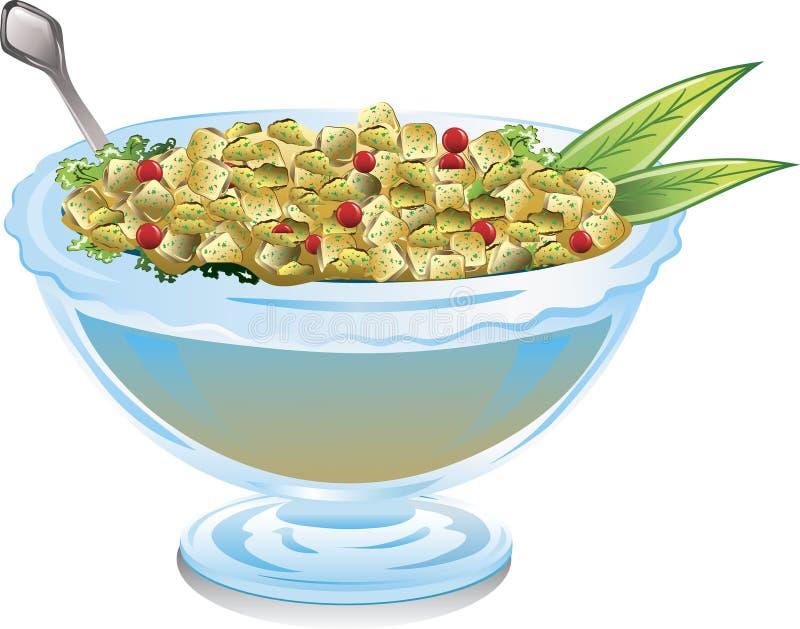 Tazón de fuente de relleno del arándano stock de ilustración