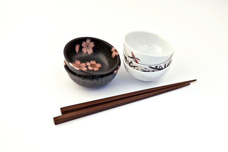 Tazón de fuente de salsa de soja, conjunto del sushi imágenes de archivo libres de regalías