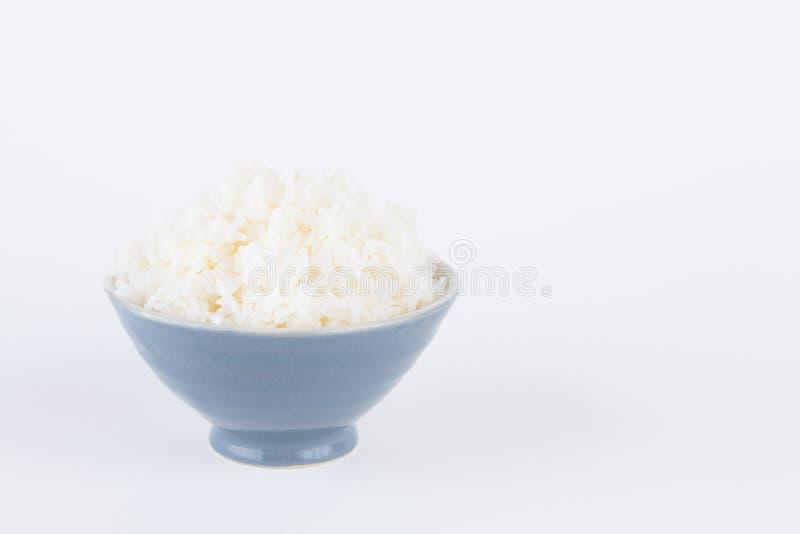 Tazón de fuente por completo de arroz imagen de archivo