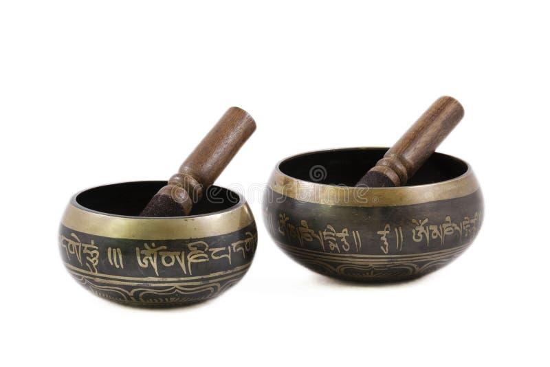 Tazón de fuente tibetano fotografía de archivo libre de regalías