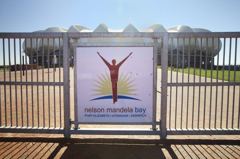 Taza 2010 de mundo del fútbol del estadio de Port Elizabeth fotos de archivo