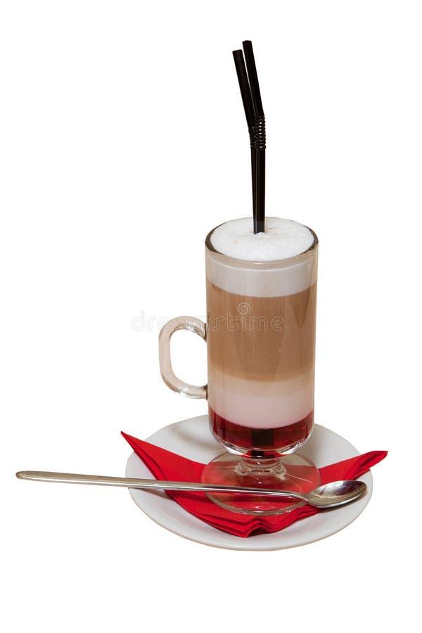 Download Taza Alta De Latte Fresco Del Café Aislado Imagen de archivo - Imagen de objeto, coffeecup: 41904659