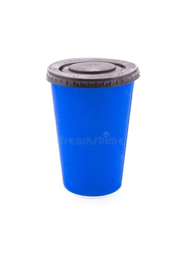 Download Taza azul de la cartulina foto de archivo. Imagen de café - 64206532