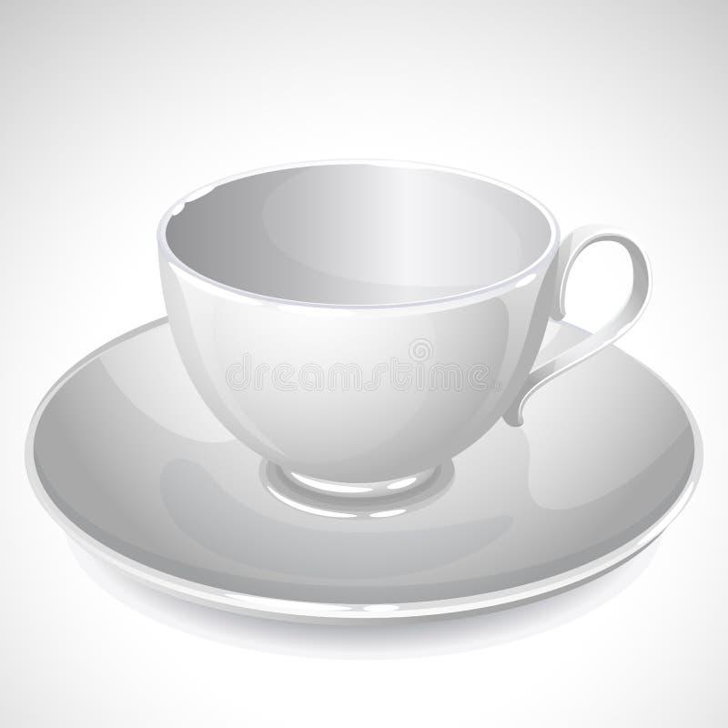 Taza blanca ilustración del vector
