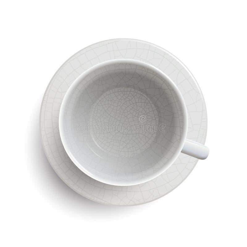Taza blanca del vintage vacío libre illustration