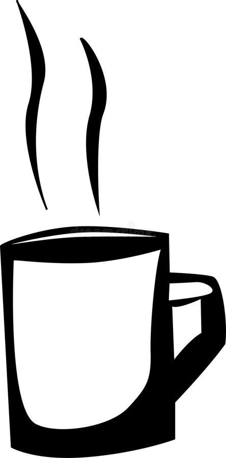 Taza caliente de la bebida stock de ilustración