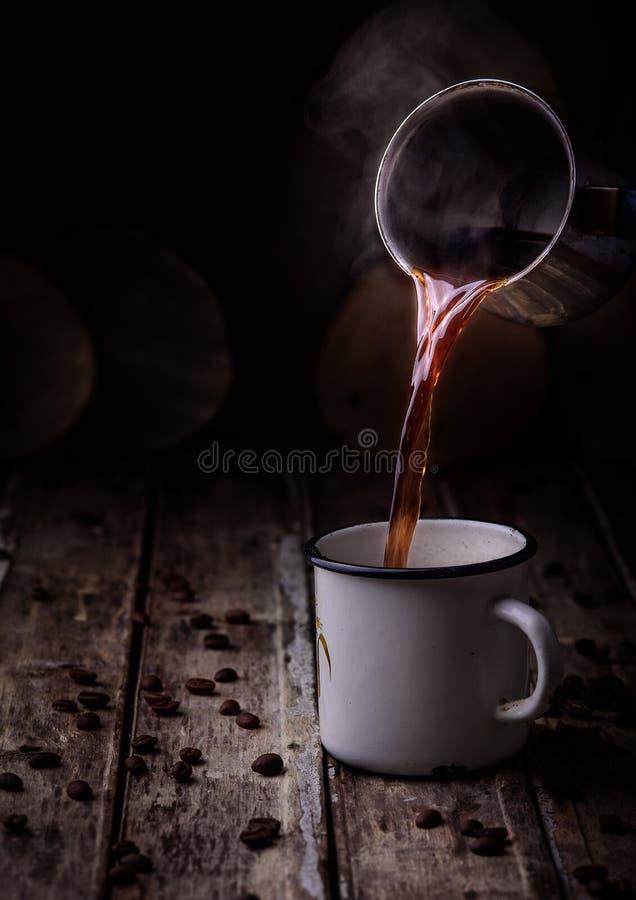 Taza con café imagenes de archivo