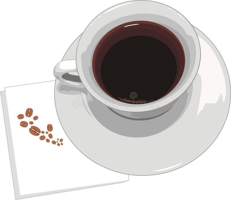 Taza Con Café En Servilleta Fotografía de archivo libre de regalías