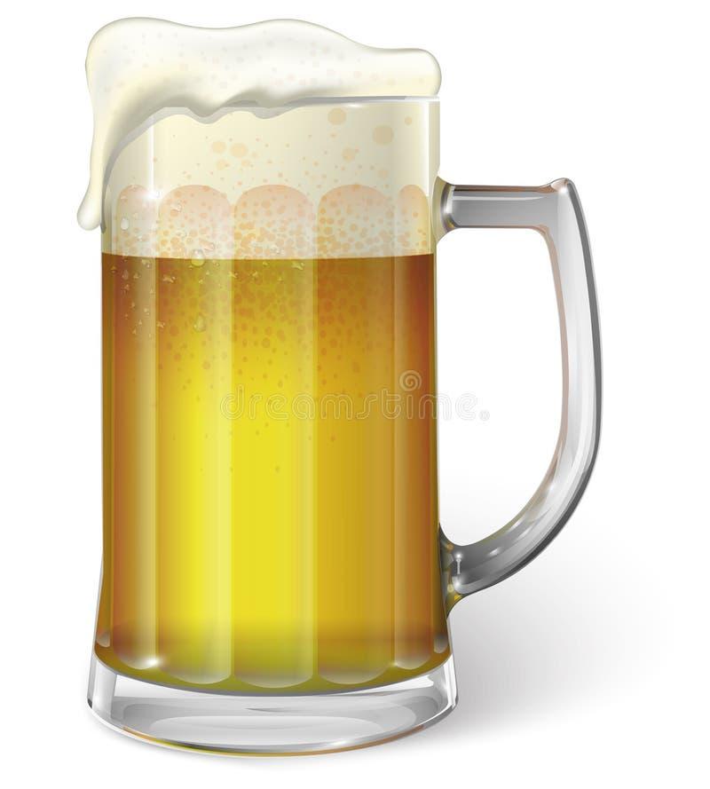 Taza con la cerveza stock de ilustración