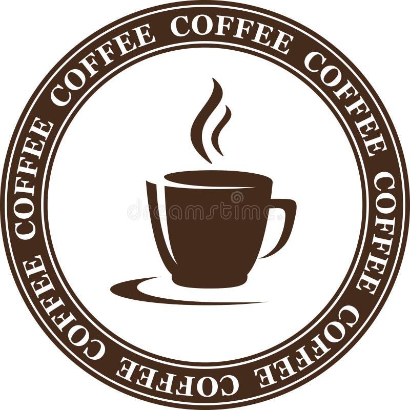 Taza de café abstracta stock de ilustración