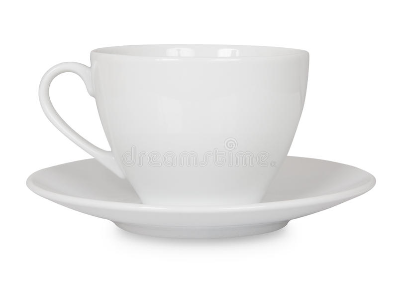 Taza de café aislada fotos de archivo