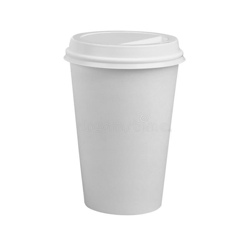 Taza de café aislada en blanco fotografía de archivo