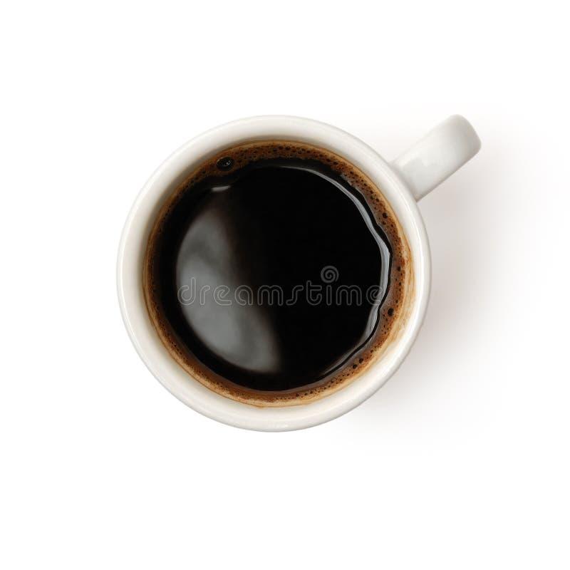 Taza de café aislada en blanco imagenes de archivo
