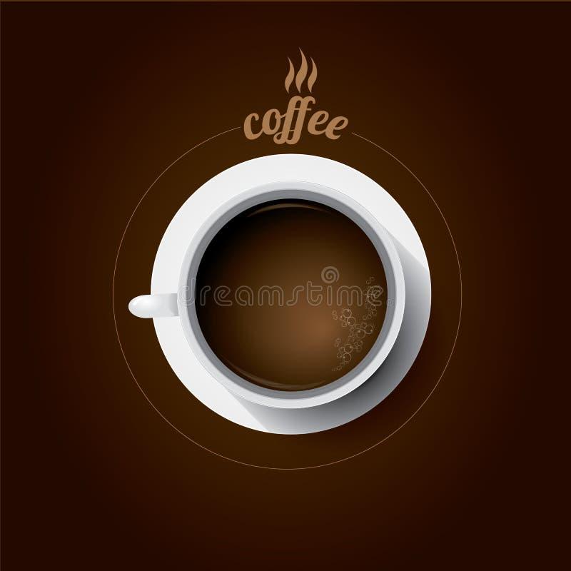Taza de café blanca taza de café plana de la endecha libre illustration