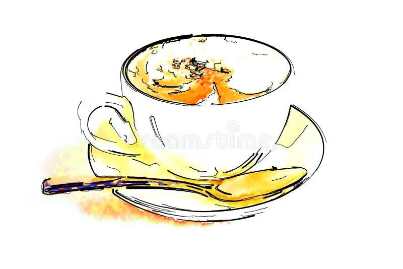 Taza de café con café caliente imagenes de archivo