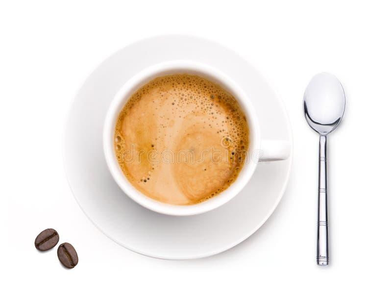 Taza de café con el café Bean Isolated fotografía de archivo