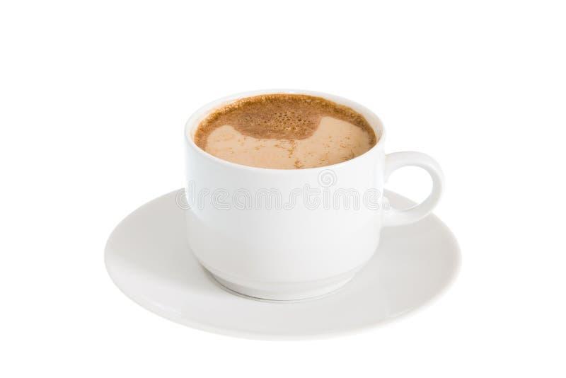 Taza de café con leche imagenes de archivo