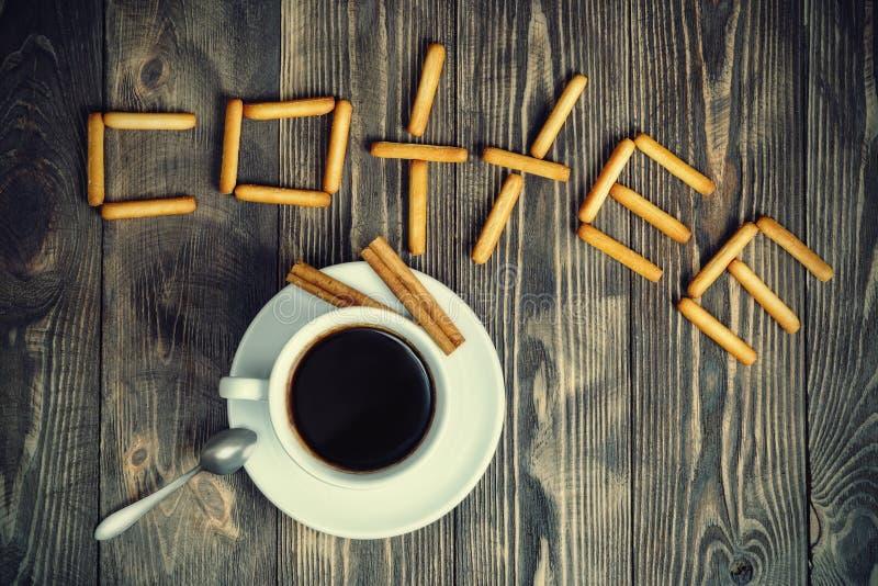 Taza de café con vainilla foto de archivo