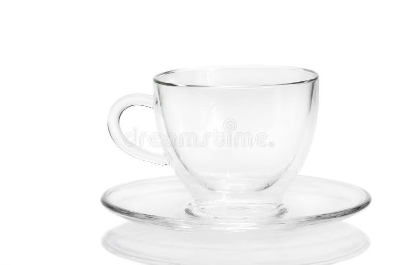 Taza de café de cristal fotos de archivo