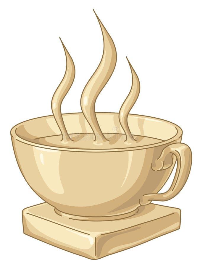 Taza de café de oro ilustración del vector