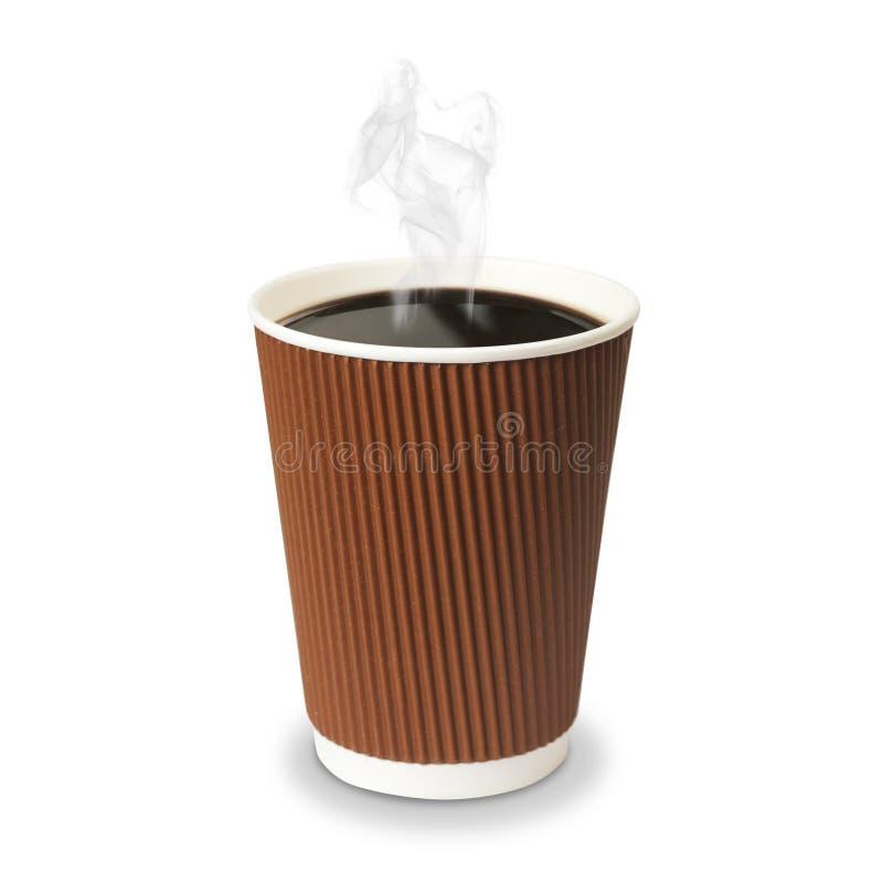 Taza de café de papel aislada fotografía de archivo