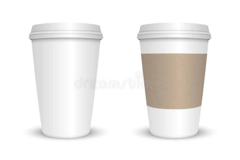Taza de café en blanco libre illustration