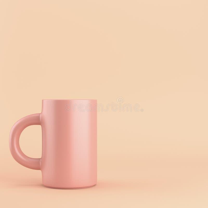 Taza de café en fondo brillante stock de ilustración