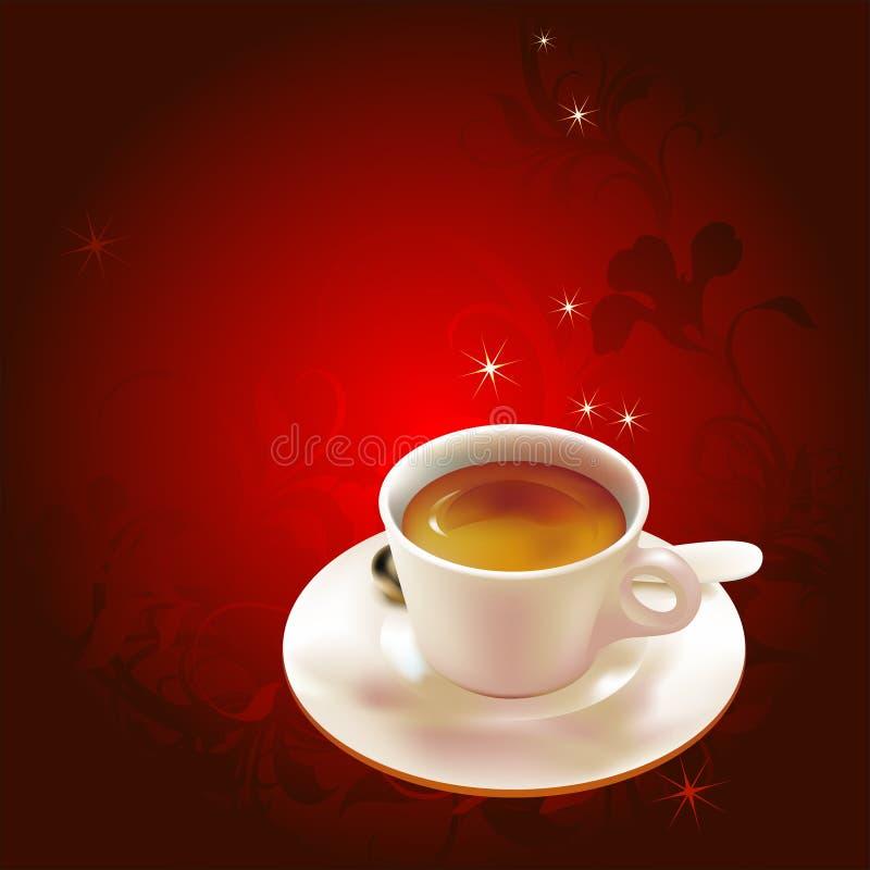 Taza de café en la placa libre illustration