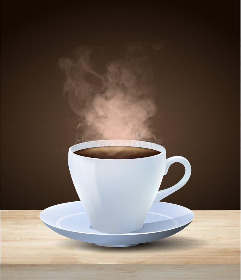 taza de café espresso al vapor en caliente libre illustration