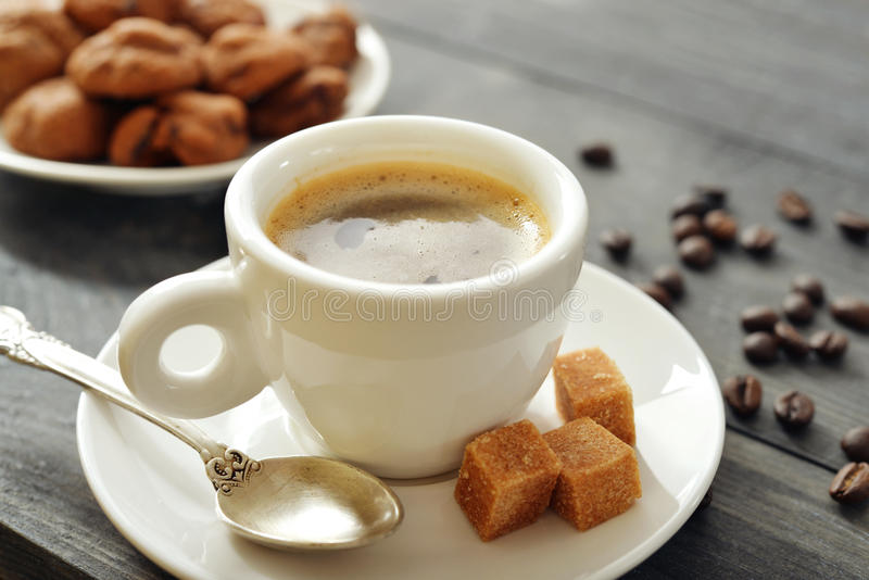 Taza de café express fotos de archivo