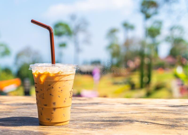 taza de café helada del latte fotografía de archivo libre de regalías