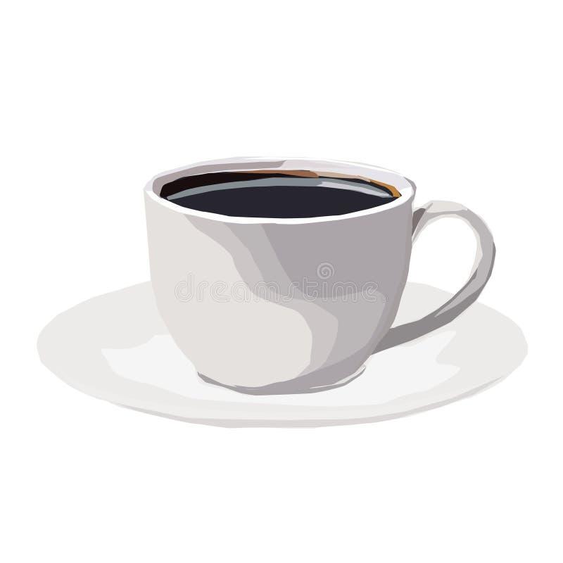 Taza de café, la imagen del vector stock de ilustración