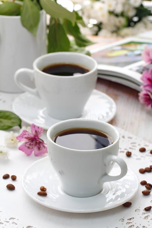 Taza de café de la mañana foto de archivo libre de regalías