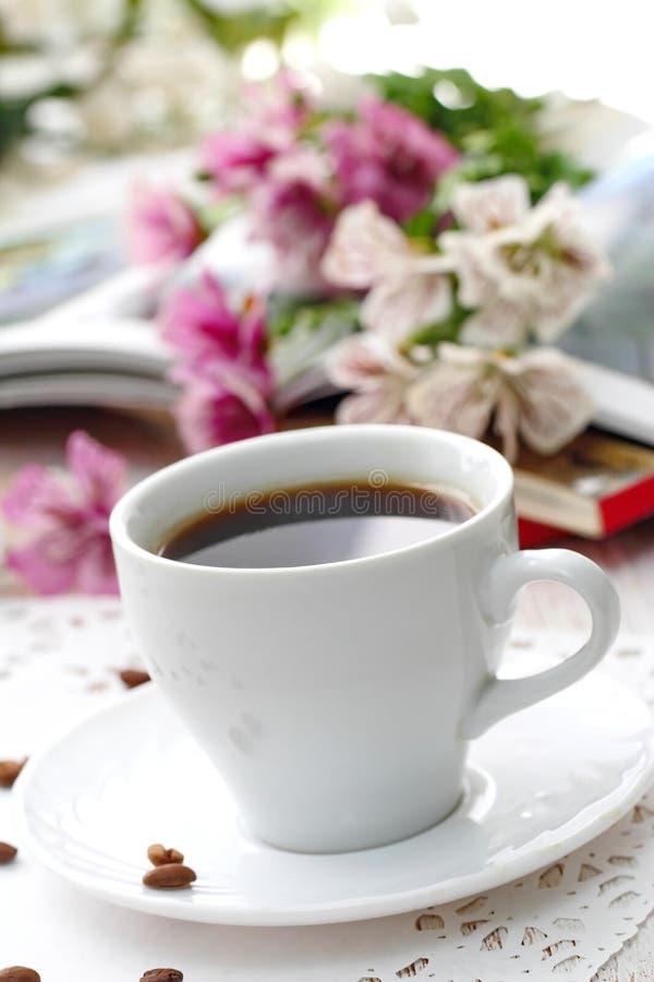 Taza de café de la mañana fotos de archivo libres de regalías