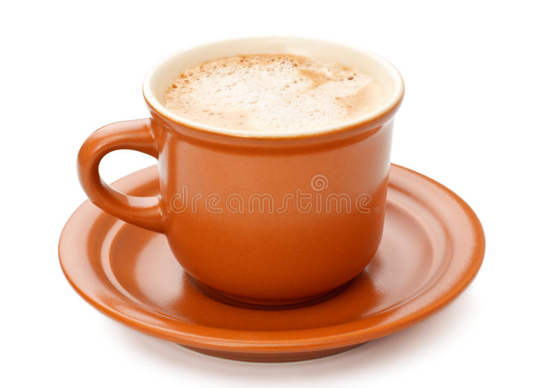 Taza de café llena foto de archivo libre de regalías