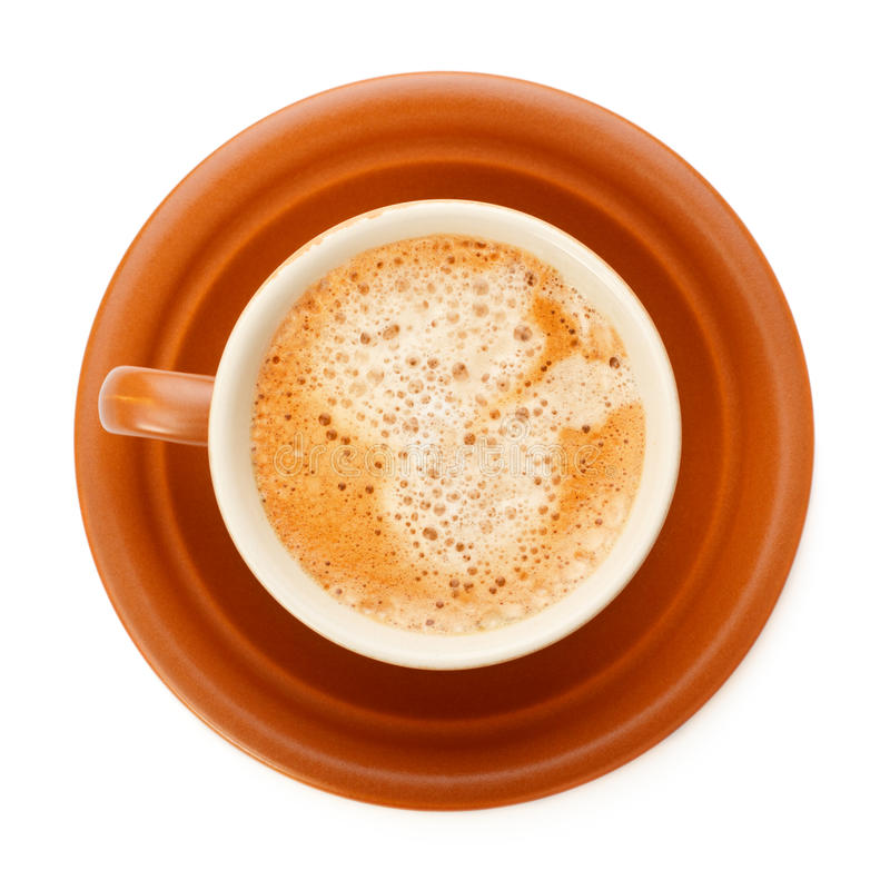 Taza de café llena fotografía de archivo libre de regalías