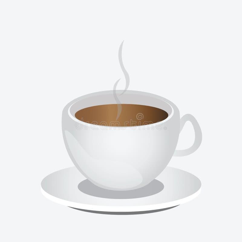 Taza de café o de latte del capuchino libre illustration