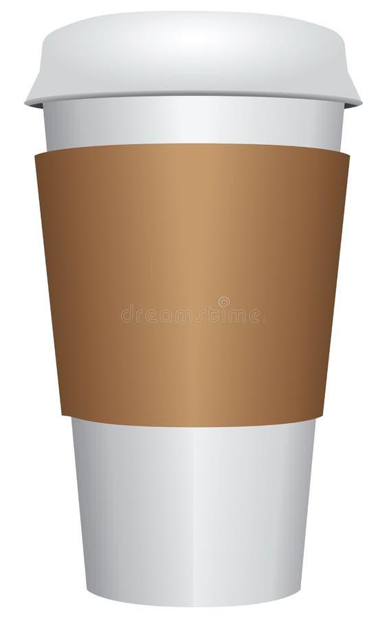 Taza de café plástica ilustración del vector