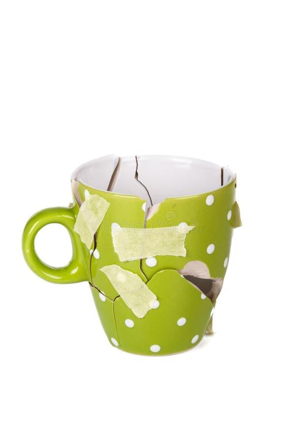 Taza de café quebrada imagen de archivo libre de regalías