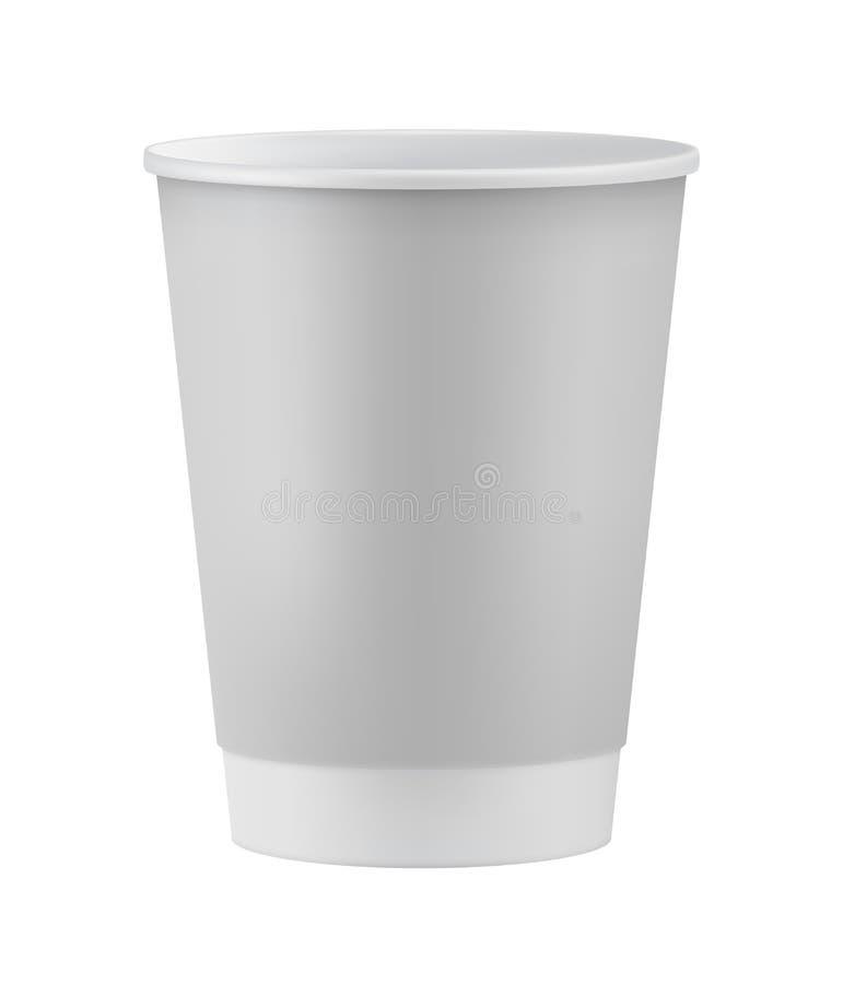 Taza de café realista del Libro Blanco ilustración del vector