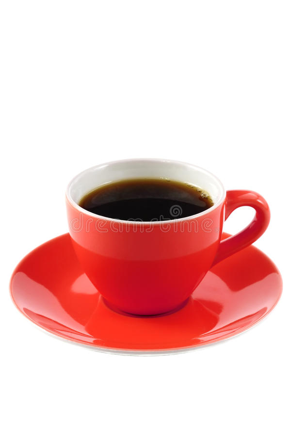 Taza de café roja