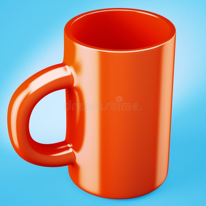 Taza de café roja libre illustration