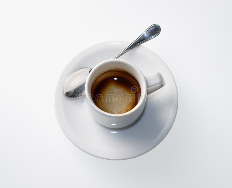 Taza de café vacía fotografía de archivo