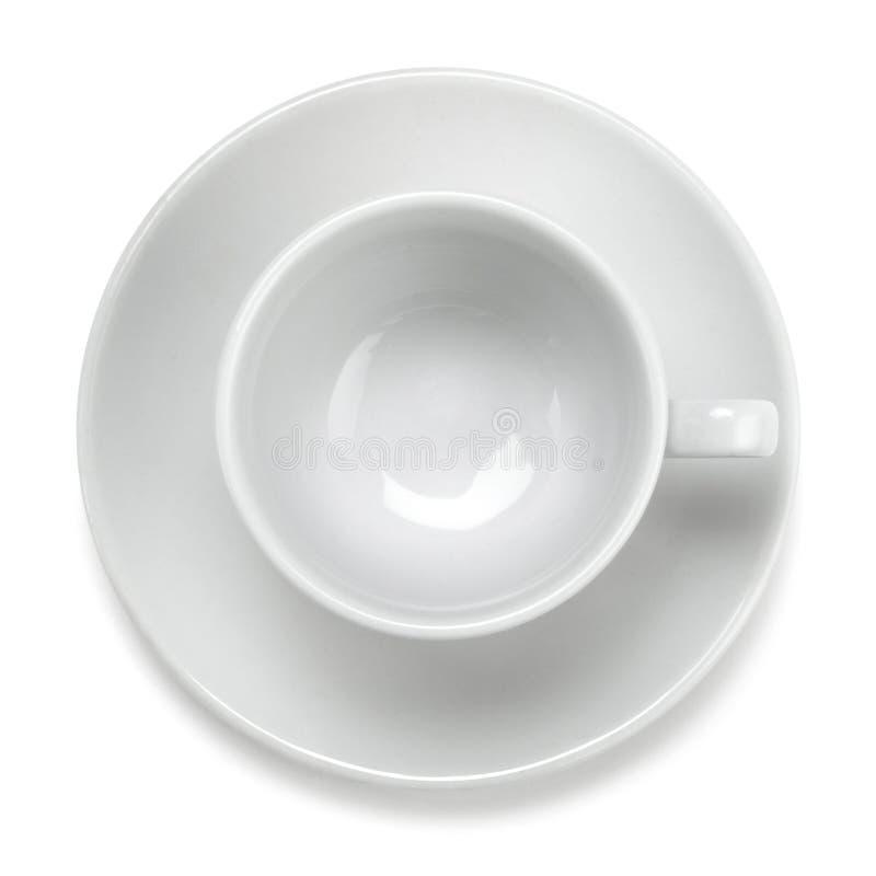 Taza de café vacía foto de archivo libre de regalías