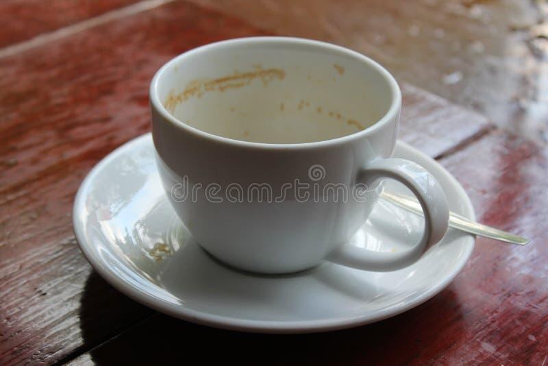 Taza de café vacía fotografía de archivo libre de regalías